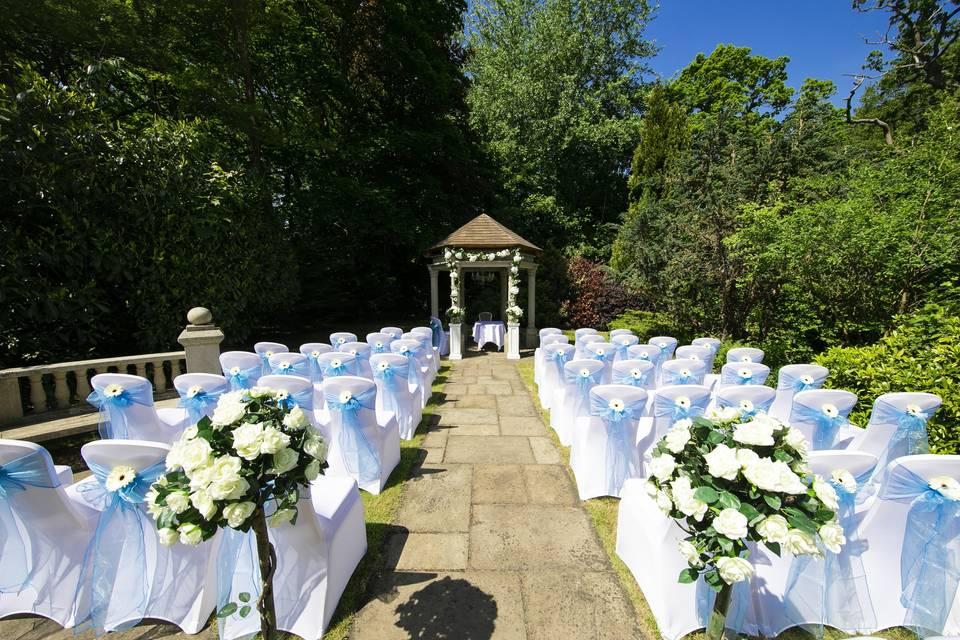 Outdoor Ceremony @ The Casa Hotel, Yateley