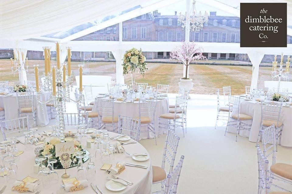 Elegant wedding meal