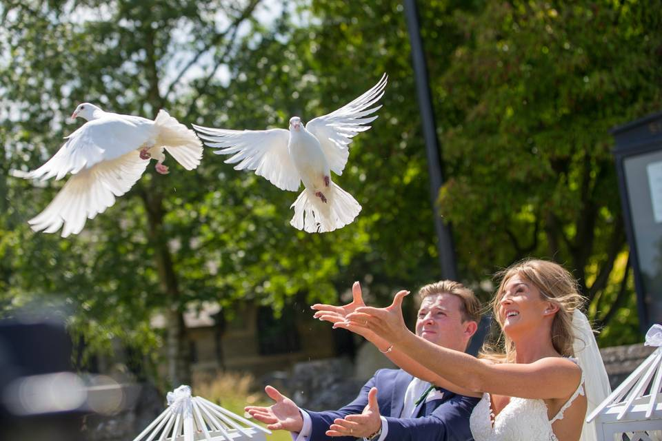 Releasing the birds - Our Wedding Company