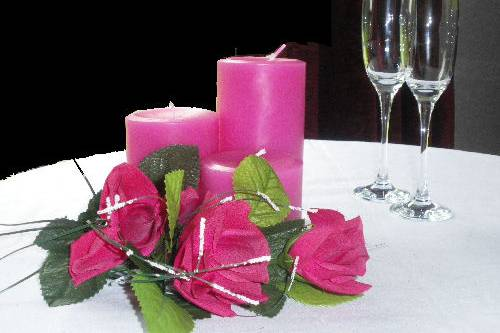 Pink candle trio