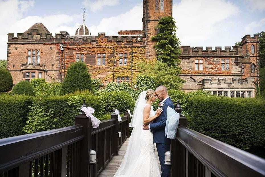 Newlyweds on the moat
