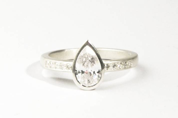 The Occasional Goldsmith pear diamond