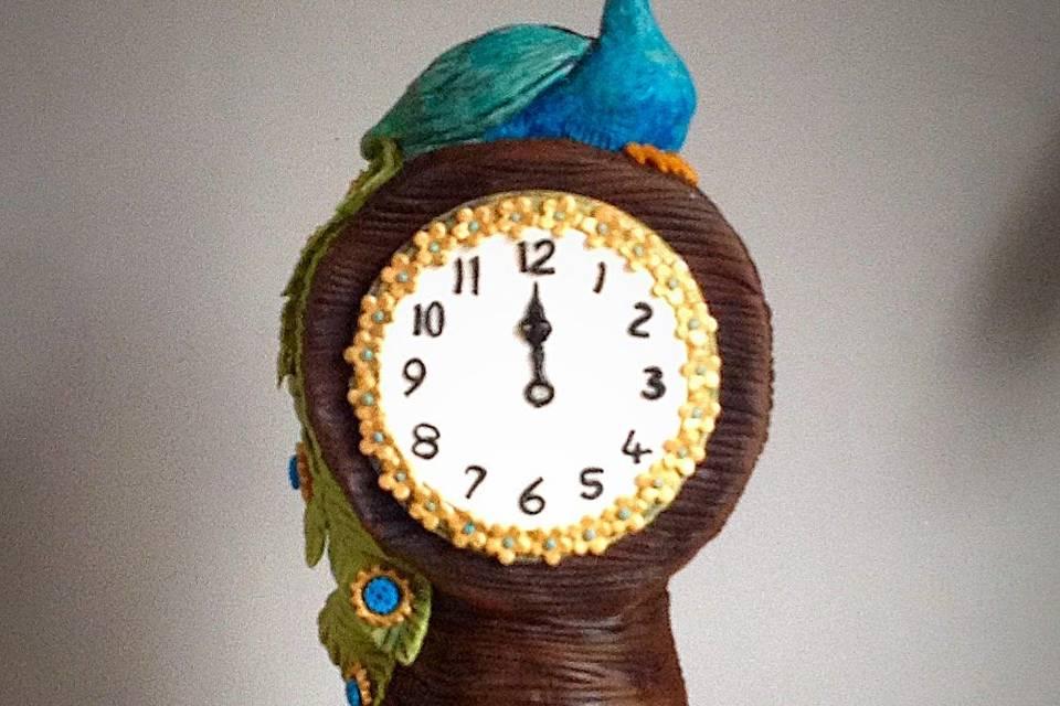 Peacock Clock cake