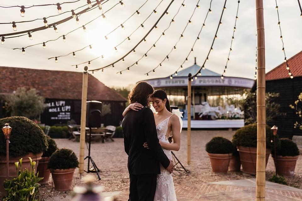 First dance under the maypole.
