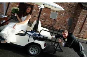 Golf cart for photos