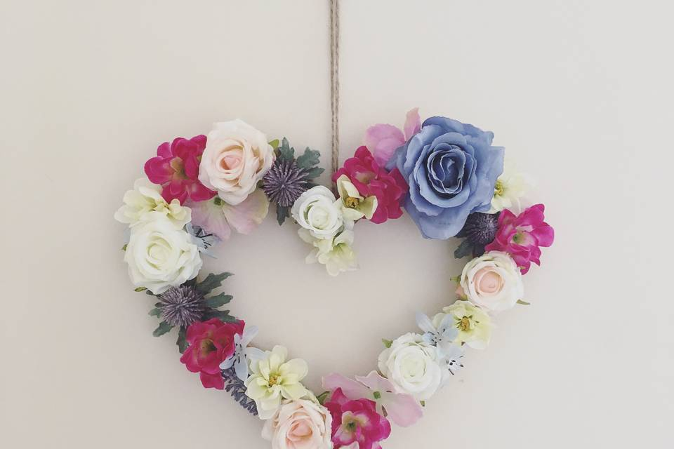 Hanging floral heart