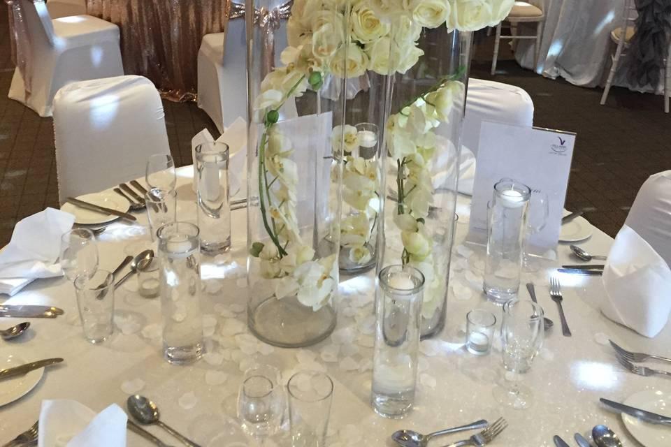 Trio vase centre piece