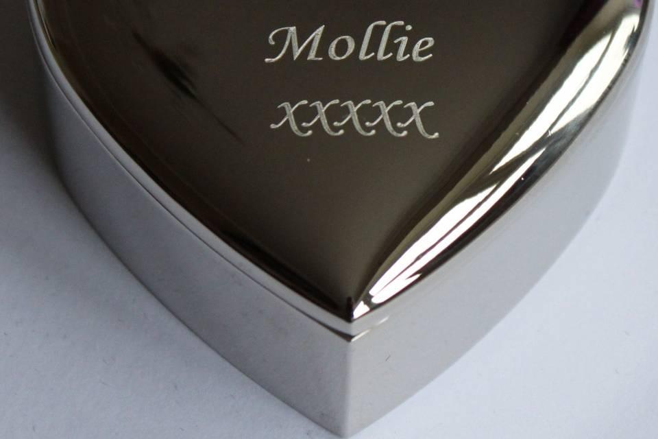 Silver Plated Heart Bridesmaid Trinket Box