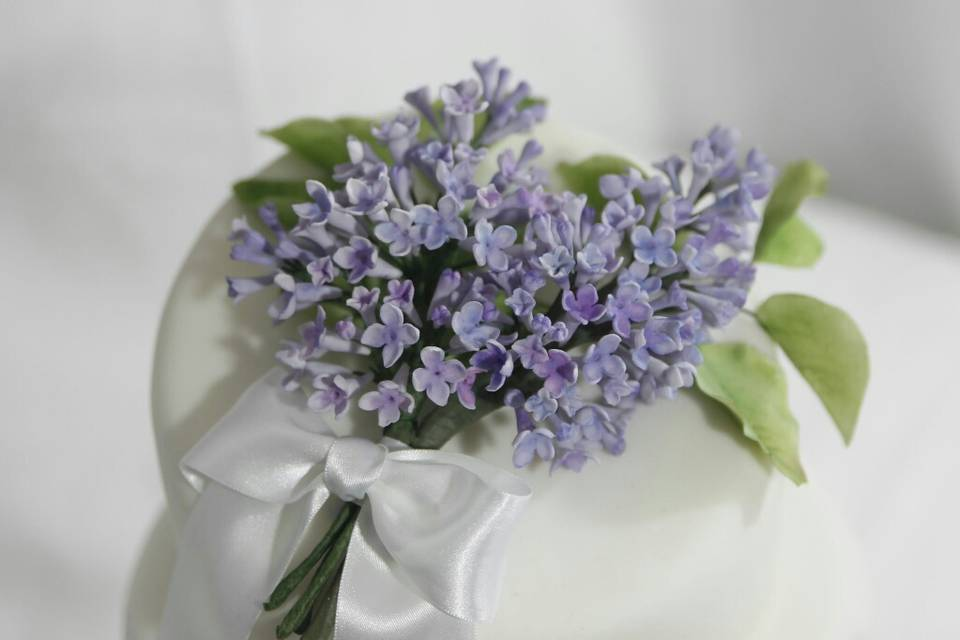 Lilac sugar flowers