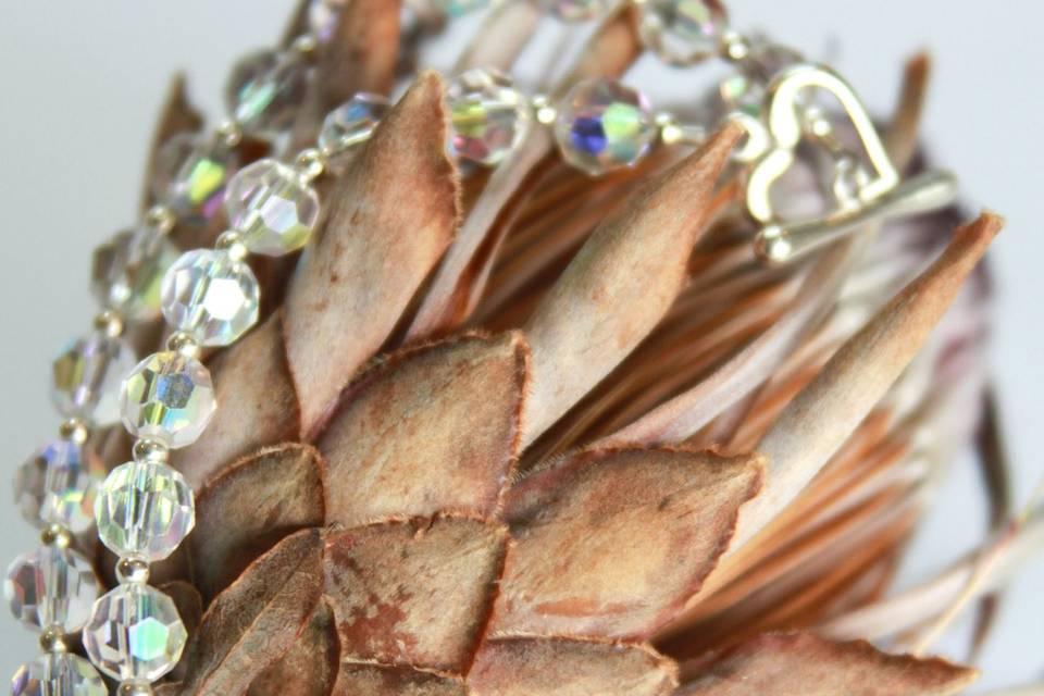 Crystal double warp bracelet