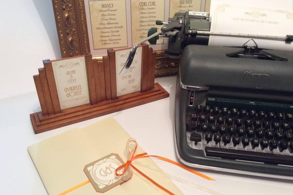 Typewriter hire