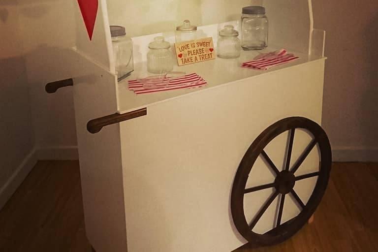 Hand made sweet cart