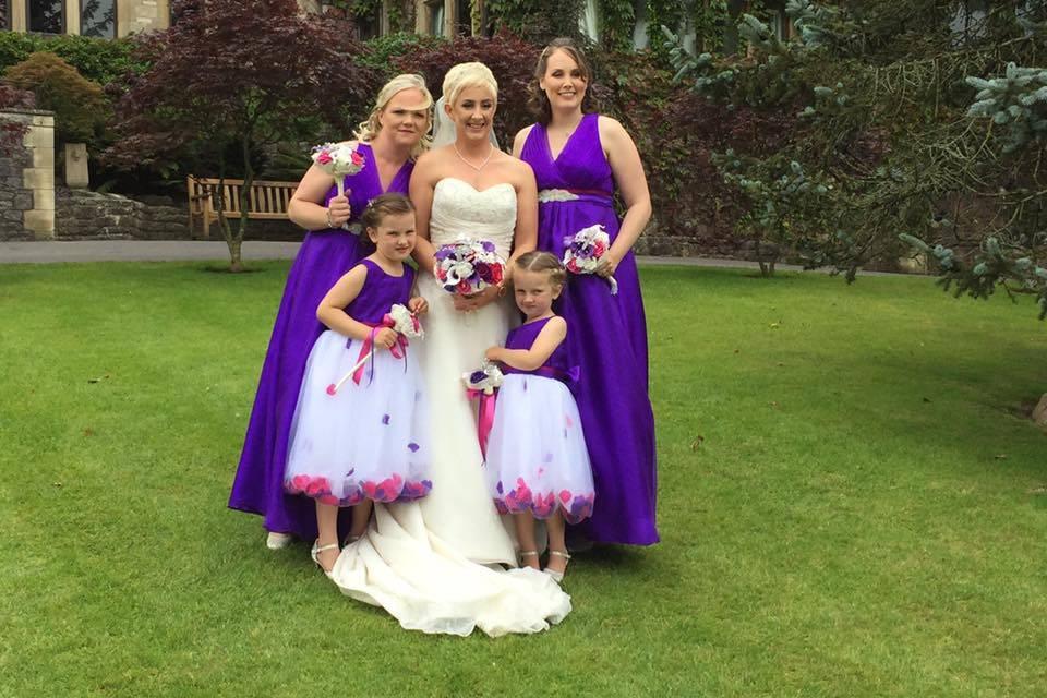 Purple paradise bridesmaid