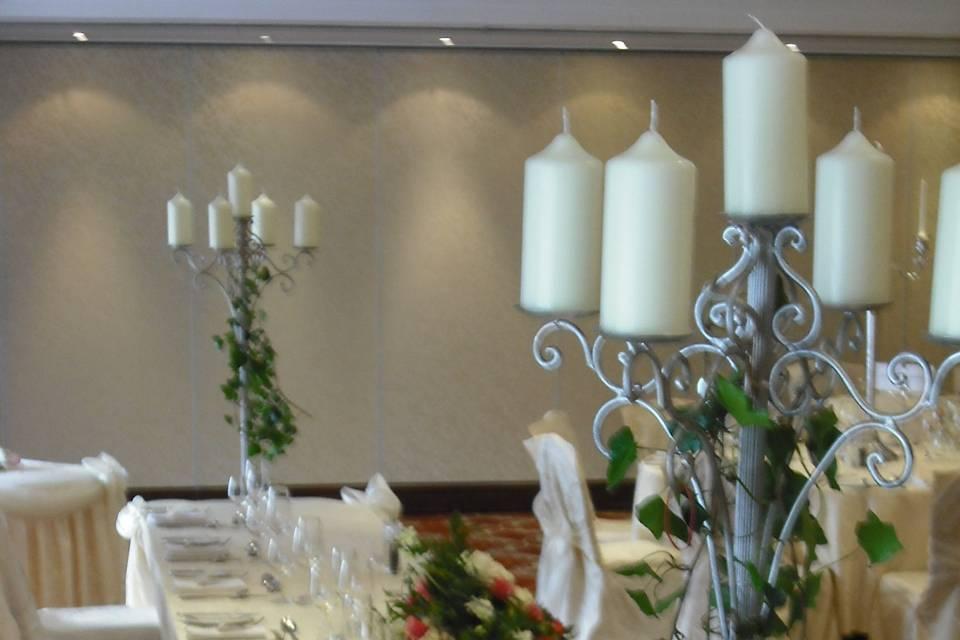 Floor candelabras