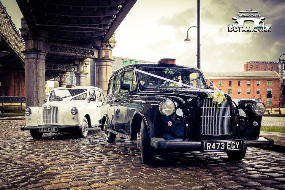 Classic wedding taxis