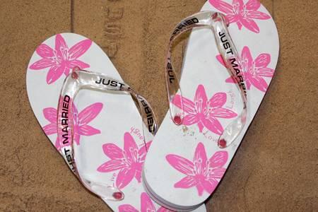 Just married flip flops