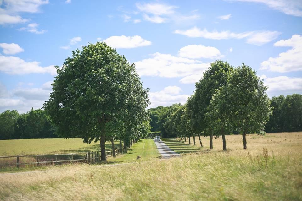 The avenue entrance