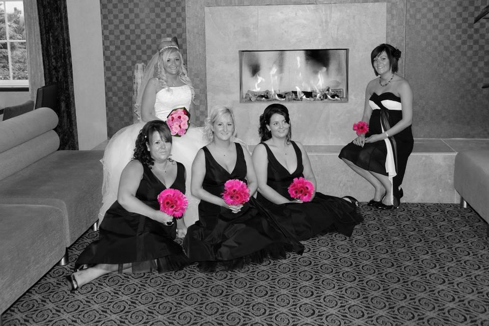 Bridal Party, Bridal Hair Glas