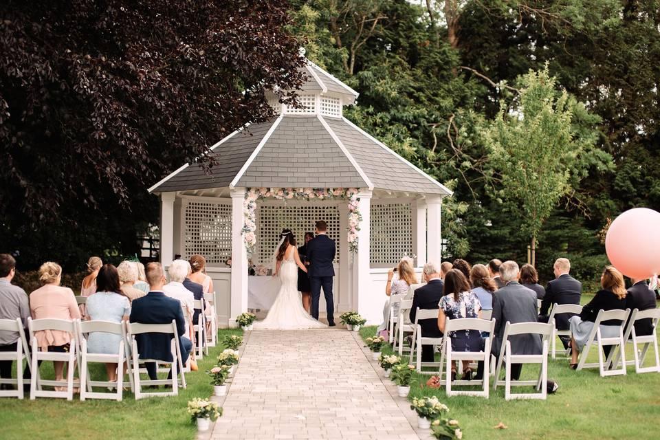 Outdoor ceremony Hayne House