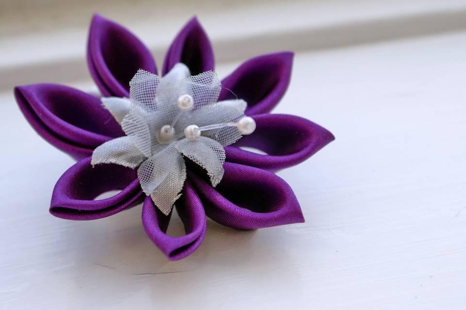 Violet Silk Kanzashi
