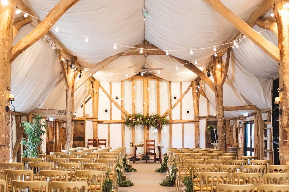 South Farm Tudor Barn Ceremony