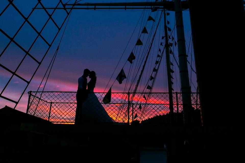 Brunel's SS Great Britain at sunset