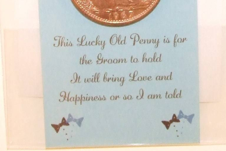 Groom's Good Luck Penny