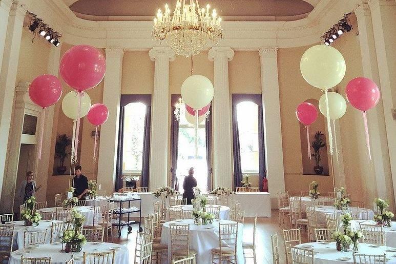 Beautiful venue balloons