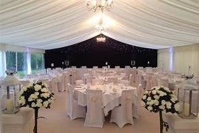 Tables,chairs & decor supplied