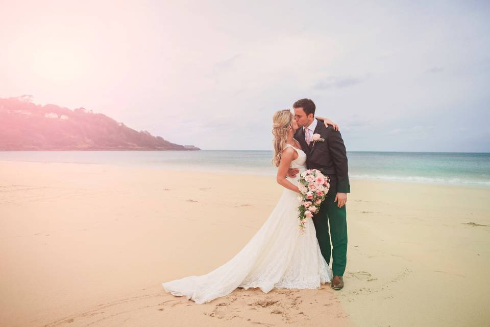 3 Beach Wedding at Carbis Bay