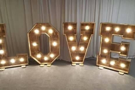 3ft Light up Love Letters