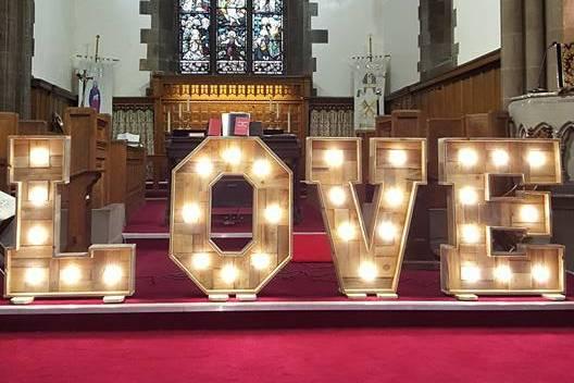 LOVE Letters churche