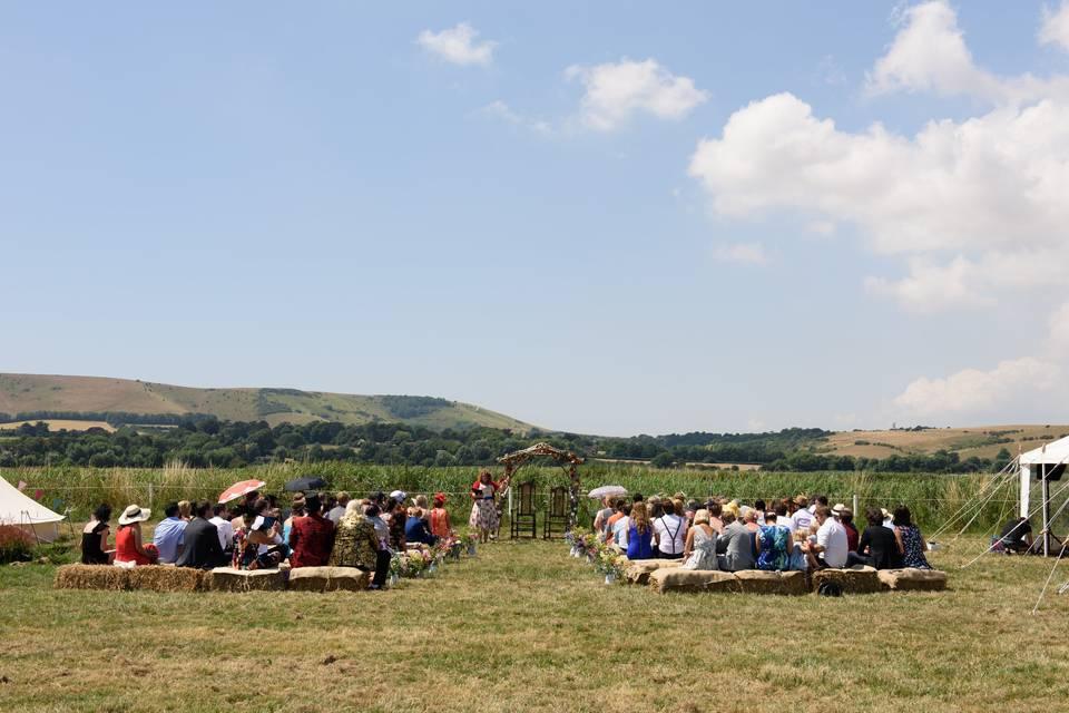 Countryside ceremony