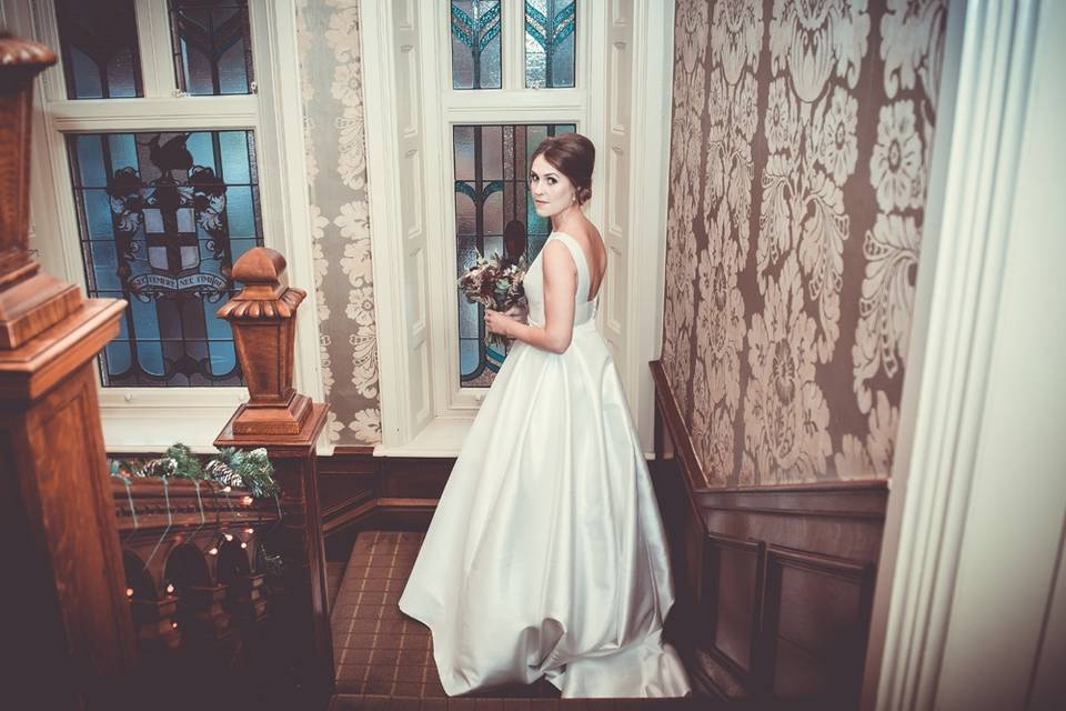 Bride on the staircase