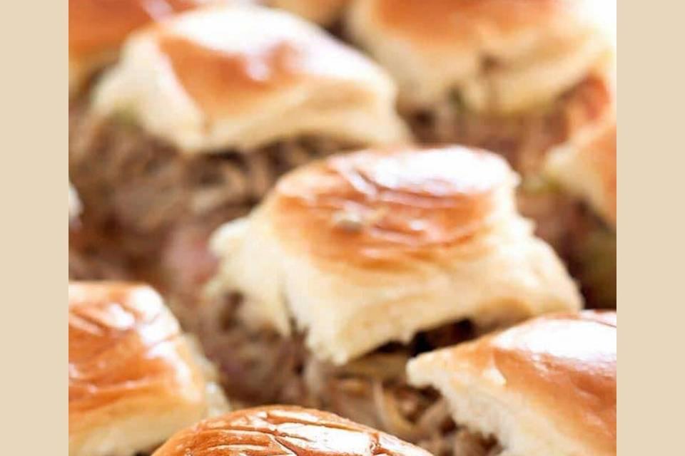 Slow-roasted pork burger