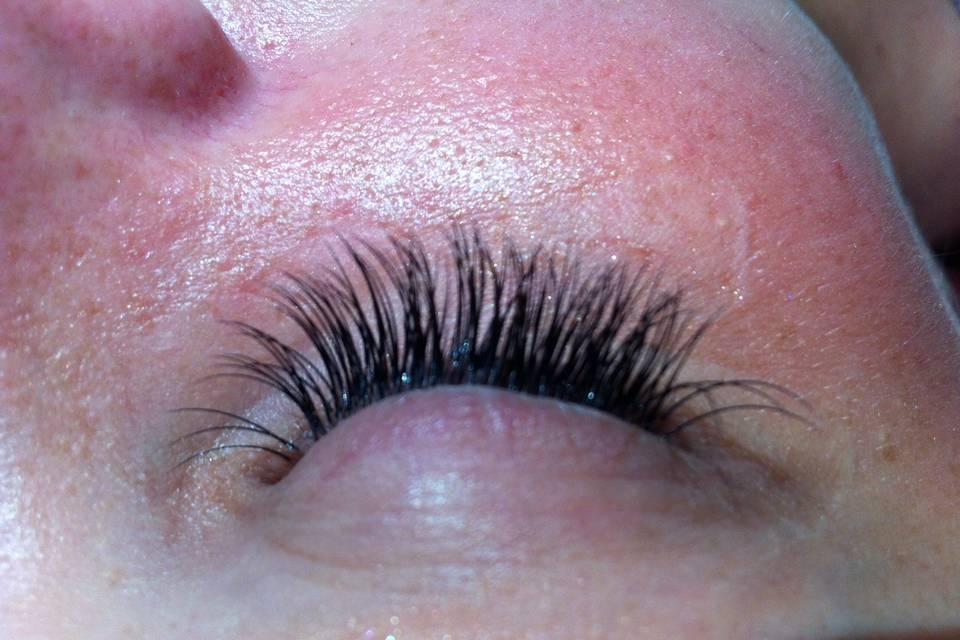 Bridal lash extensions