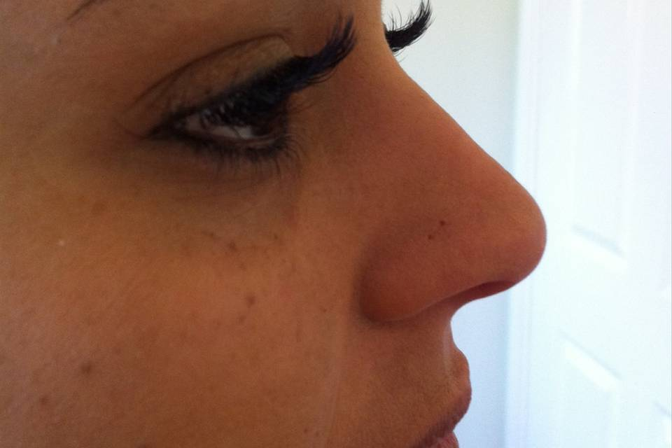 Long lashes for your wedding day