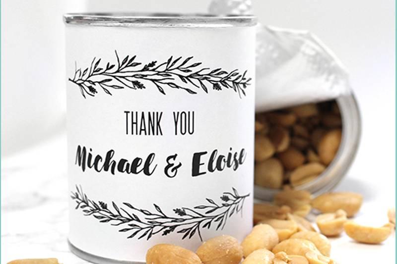 Nut wedding favour