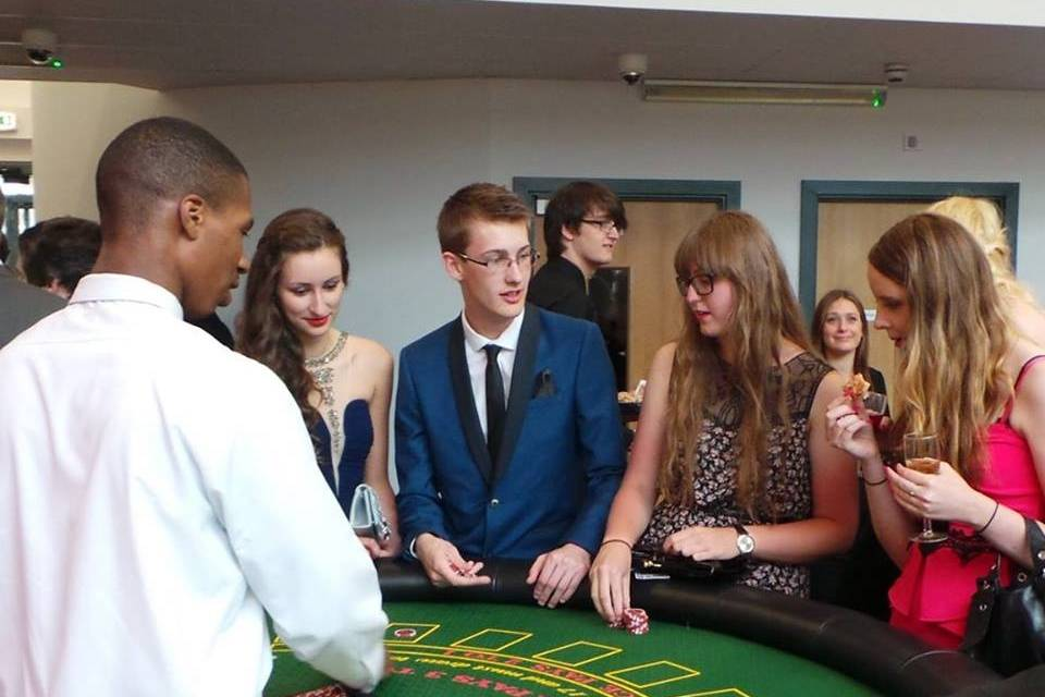Guests playing casino