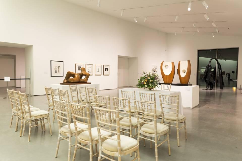Wedding Ceremony in Gallery 1. Photo by Nick Singleton.