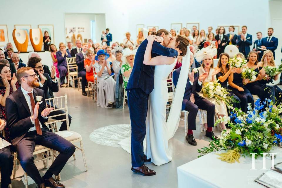 Ceremony in Gallery 3 - Image by Hamish Irvine courtesy of Amy & Andy