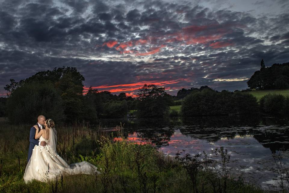 Bride and Groom Landscape