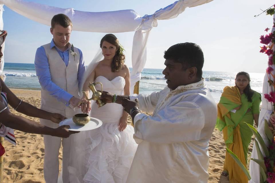 Sri Lankan Wedding on the beac