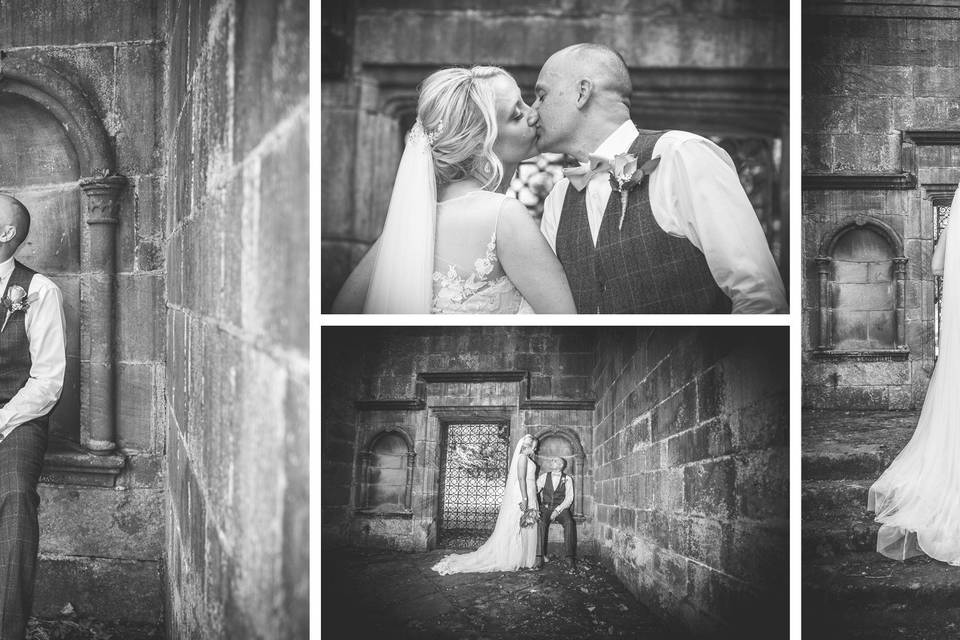 Black & White Wedding Shot