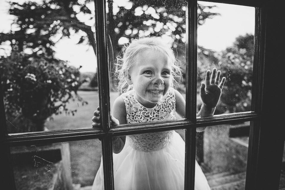 Inquisitive flower girl - Kevin Fern Photography
