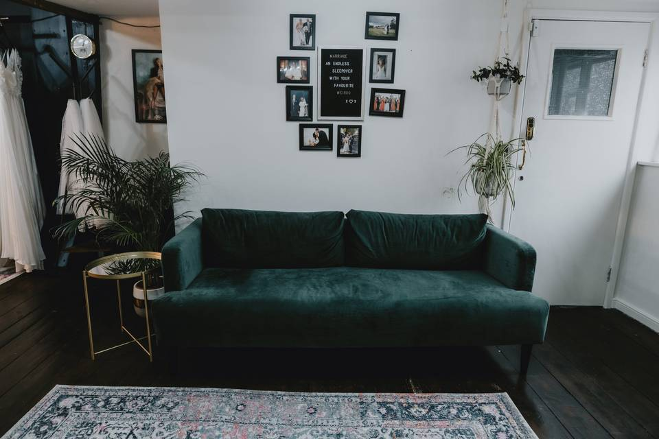 Comfortable guest seating