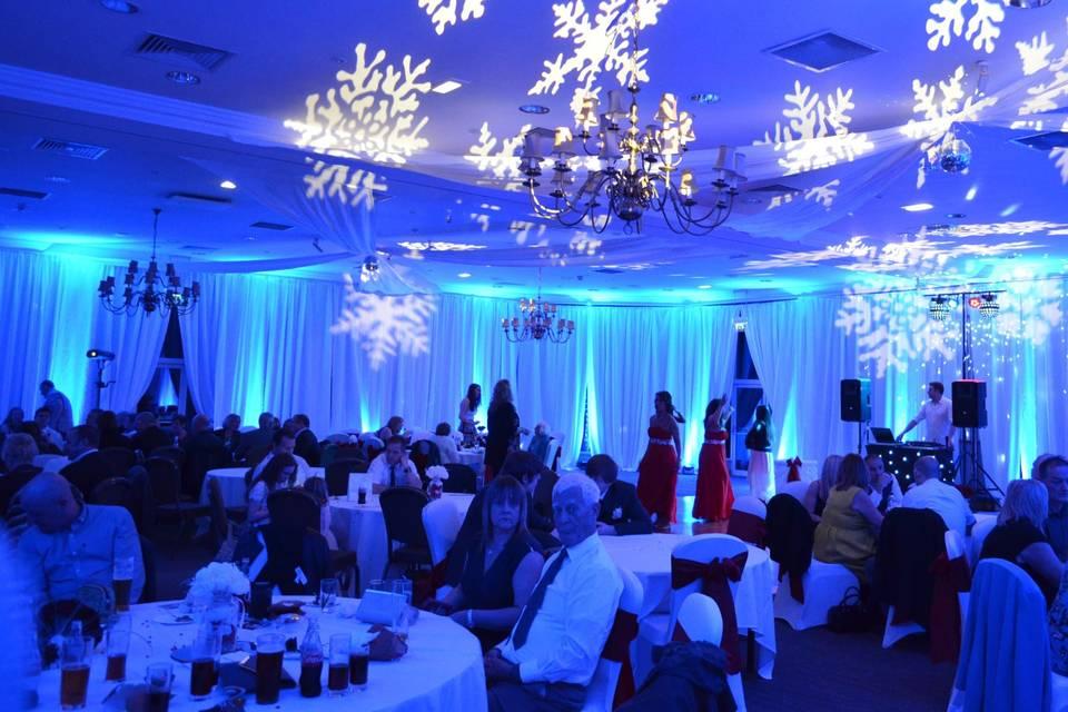 Winter wonderland wedding ligh