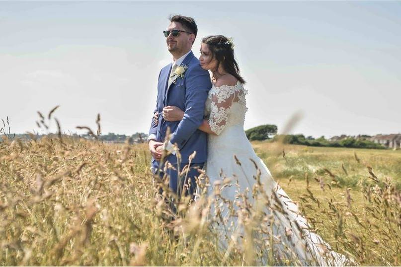 Field wedding portrait - Charly Woodhouse Photography