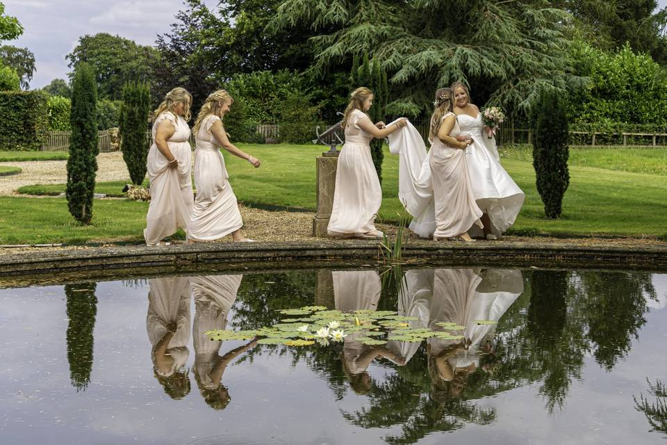 Bridesmaids Reflecting