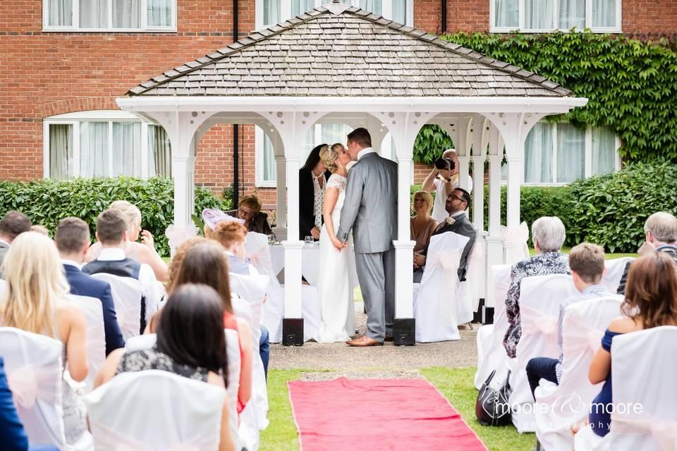Gazebo wedding ceremony